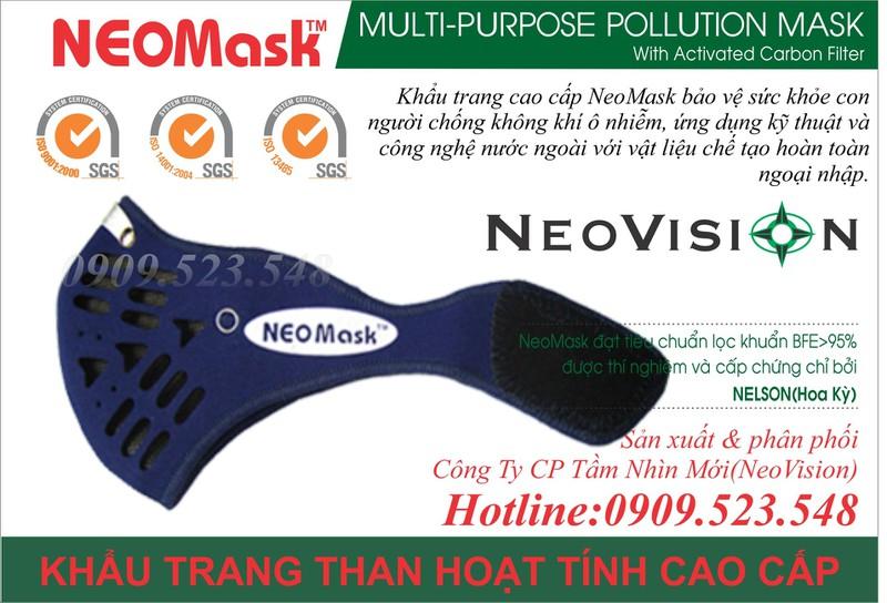 Khẩu trang than hoạt tính Neomask 3