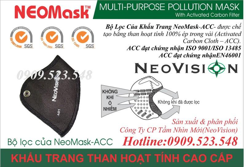 Khẩu trang than hoạt tính Neomask 5