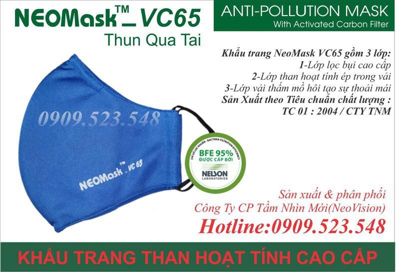 Khẩu trang than hoạt tính Neomask VC65 6