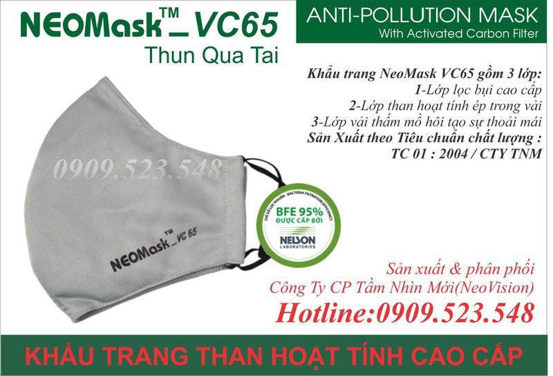 Khẩu trang than hoạt tính Neomask VC65 4