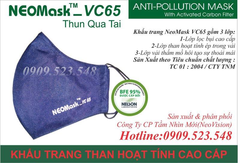 Khẩu trang than hoạt tính Neomask VC65 3