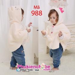 Áo choàng bông bé gái 0-2 tuổi