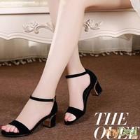 Giày gót vuông viền đế Sweet - MD1786