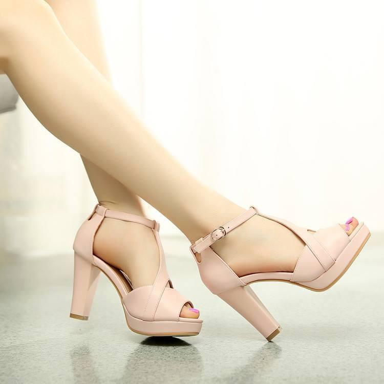 HÀNG LOẠI I CAO CẤP: Giày cao gót hở mũi cách điệu VNXK 5