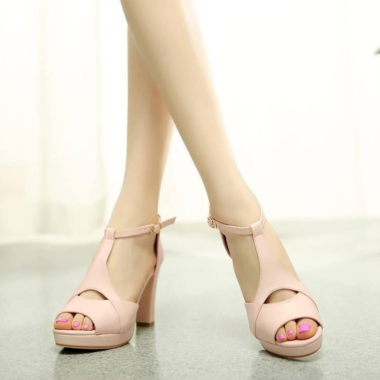 HÀNG LOẠI I CAO CẤP: Giày cao gót hở mũi cách điệu VNXK 3
