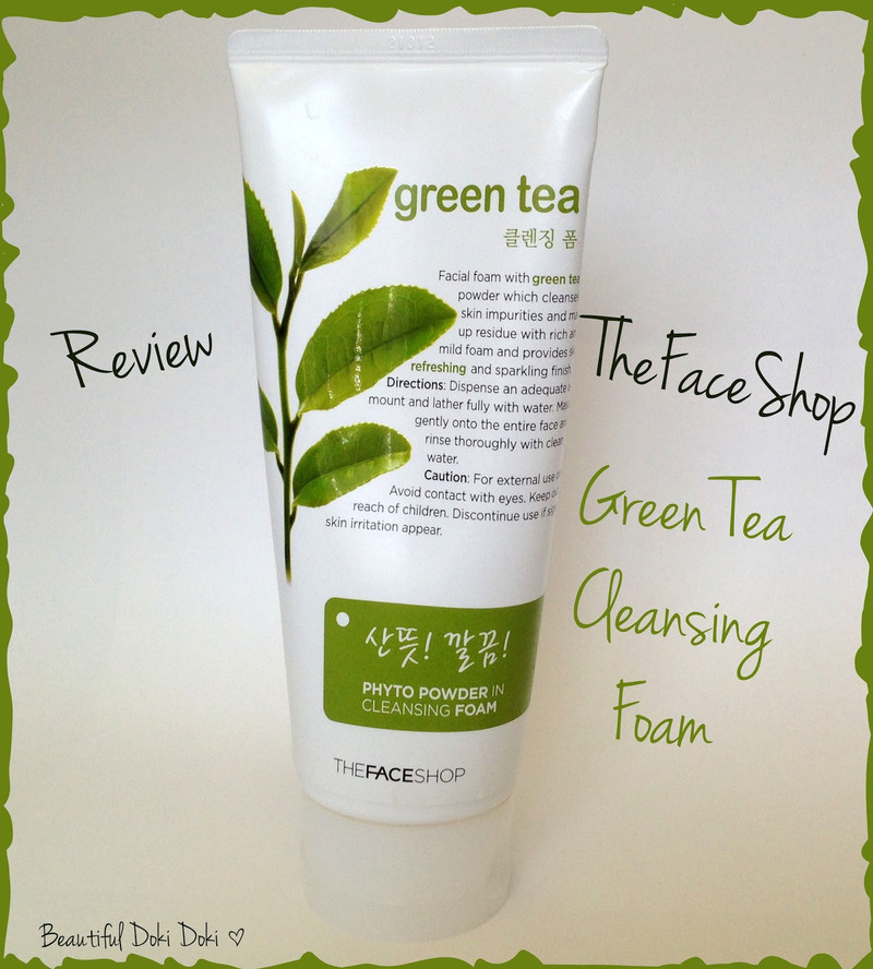 Sữa rửa mặt Phyto Powder in Cleasing Foam Green Tea TheFaceShop 2