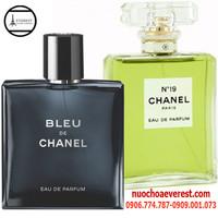 Bộ nước hoa Nam Nữ Chanel Bleu và N19