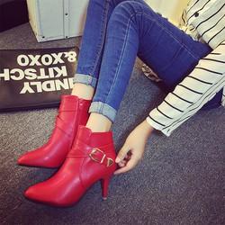 Giày bốt nữ cao gót trẻ trung - Mã số MM90123