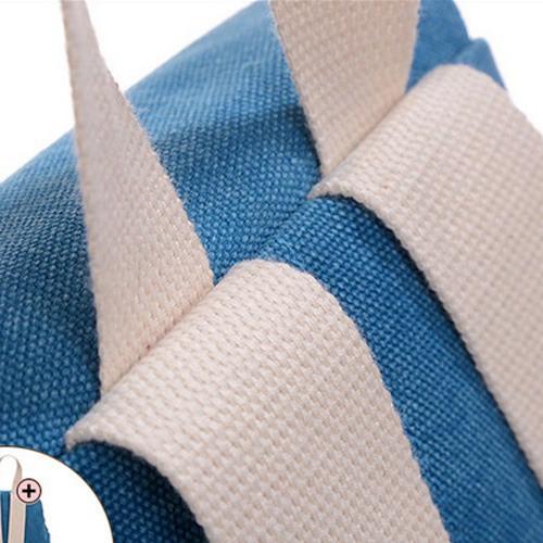 Ba lô vải thô họa tiết bàn tay 11