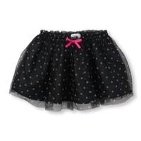 Váy Voan xòe màu đen chấm bi cho bé gái  2 đến 4 tuổi hiệu Place