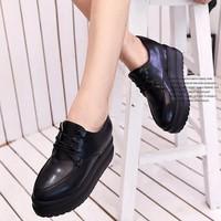 BM041T - Giày Bánh mì cột dây Oxford