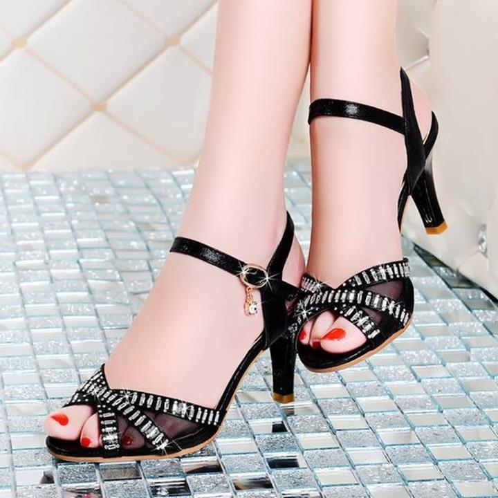 HÀNG NHẬP: Giày cao gót gắn đá sang trọng korea 4