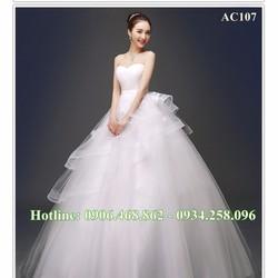 Áo cưới cao cấp cúp ngực AC107