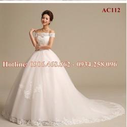 Áo cưới đuôi dài AC112