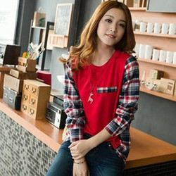 Áo thun nữ cổ tròn, thiết kế độc đáo, phong cách Hàn Quốc-A2935