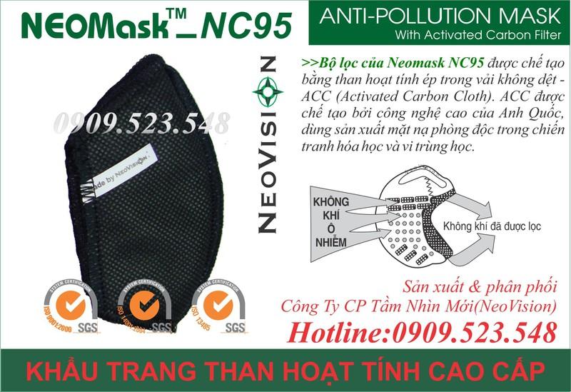 Khẩu trang than hoạt tính Neomask NC95 8