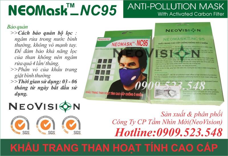 Khẩu trang than hoạt tính Neomask NC95 10