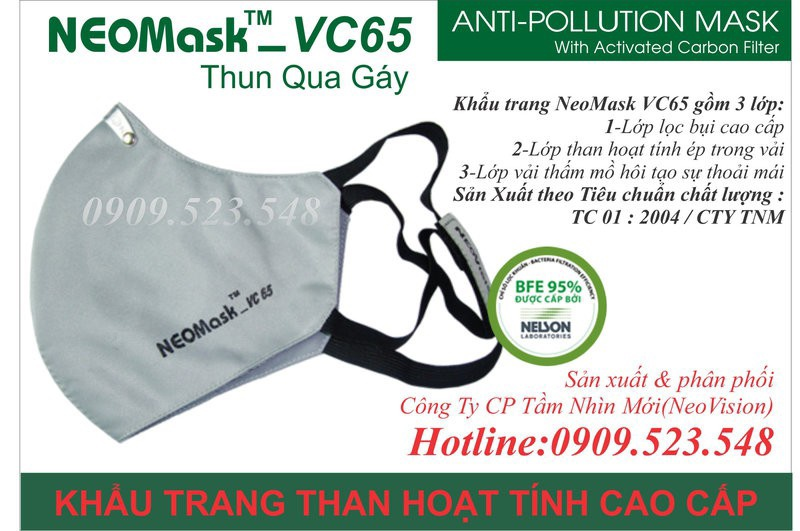 Khẩu trang than hoạt tính Neomask VC65-TQG 7