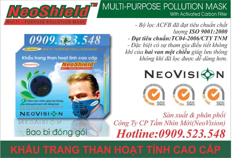 Khẩu trang than hoạt tính NeoShield 6