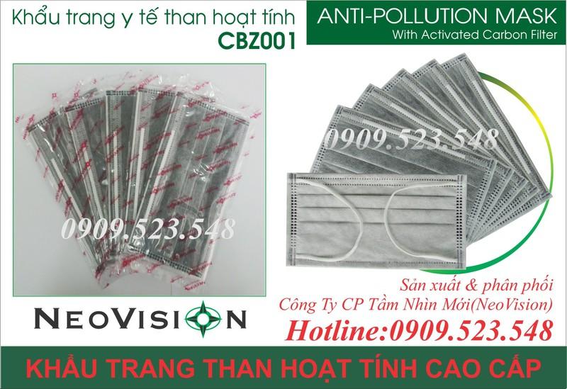 Khẩu trang y tế than hoạt tính CBZ001 6
