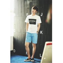 Quần short nam màu xanh nhạt phong cách trẻ trung, cá tính