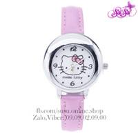 Đồng hồ Kitty dây da dễ thương - GIRL04