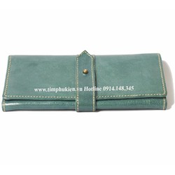 Bóp da nữ cầm tay thời trang Handmade BL00022 kiểu dây gài