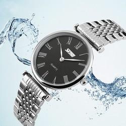 Đồng hồ Skmei dây kim loại đen TASK069