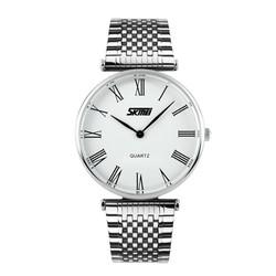 Đồng hồ Skmei dây kim loại trắng TASK069