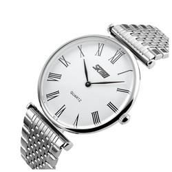 Đồng hồ dây kim loại trắng Skmei TASK069