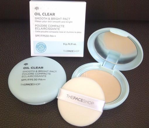 Kết quả hình ảnh cho Phấn nén kiềm dầu Oil Clear Blotting Pact The Face Shop
