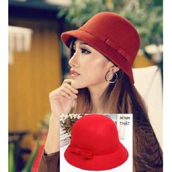 Nón rộng vành NỈ fedora nữ phong cách Hàn Quốc K79105