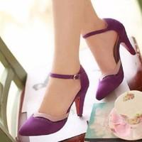 HÀNG NHẬP CAO CẤP - Giày cao gót quai cài