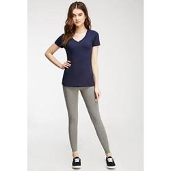 Quần legging nữ màu ghi sáng hãng Forever 21 - hàng nhập Mỹ