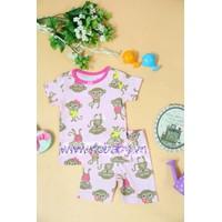 Bộ quần áo cho bé gái họa tiết khỉ Monkey - YY15