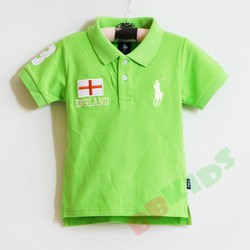 Áo thun Polo thêu cờ Anh