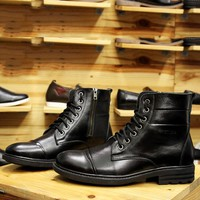 Giày da Dr,martens CC15 đầy nam tính, đế tăng chiều cao 5cm