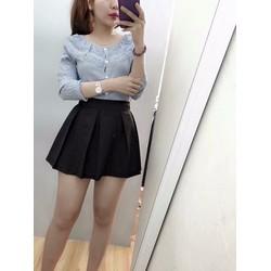 SHOP CÚN-Chân Váy Quần Kaki Xếp Ly Khoá Kéo Đủ Size-F88445
