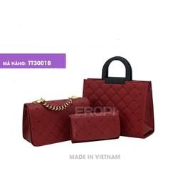 Bộ 3 sản phẩm túi và ví xách thêu