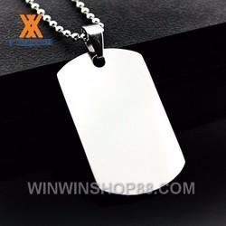 Mặt dây chuyện thẻ bài MDC214 Màu bạc bởi Winwinshop88