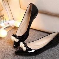 HÀNG NHẬP CAO CẤP - Giày búp bê Nơ Ngọc Trai