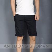Quần Short kaki nam thời trang màu đen