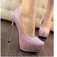 Giày cao gót 14 phân đính pha lê size 38