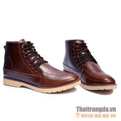 Giày da cao cổ thời trang, phong cách