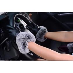 Sỉ lẻ Găng tay cảm ứng cổ lông ,găng tay lái xe sang trọng, Free size