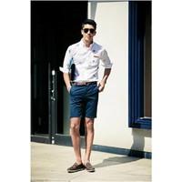 Quần short nam màu xanh đen dành cho phái mạnh trẻ trung, cá tính
