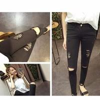 quần jeans skinny rách - Mã: QD566
