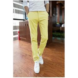 Quần kaki nam màu vàng form ống côn dành cho nam trẻ trung,cá tính
