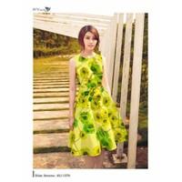 HÀNG NHẬP: Đầm xòe hoa đào