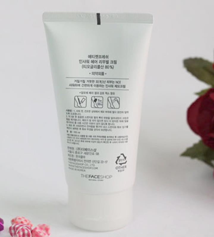 Kem tẩy lông In Shower Hair Removal Cream The Face Shop 3